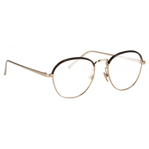 12cbaa5f82 Linda Farrow - 502 C3 Oval Optical Frames - Rose Gold and Mocha - Linda  Farrow Eyewear - Avvenice