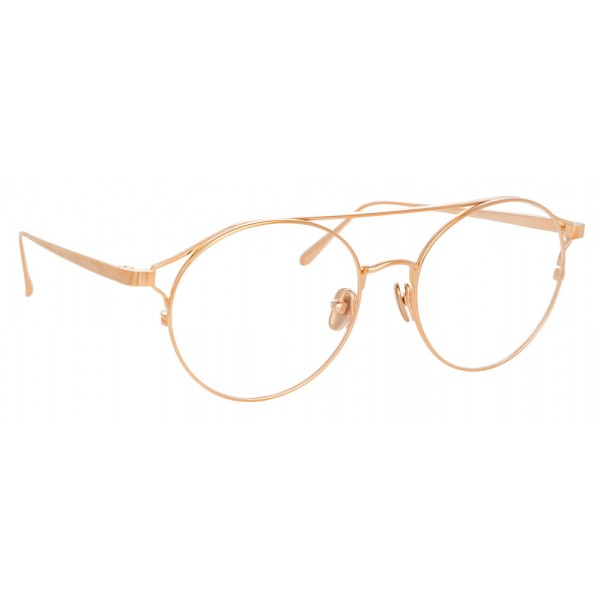 fae290cb2d Linda Farrow - 825 C10 Oval Optical Frames - Optical Lens in Rose Gold Frame  -