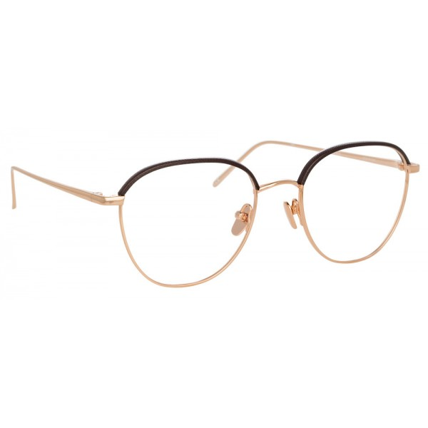 28b8d4e67f Linda Farrow - 819 C10 Square Optical Frames - Optical Lens in Rose Gold  Frame - Linda Farrow Eyewear - Avvenice