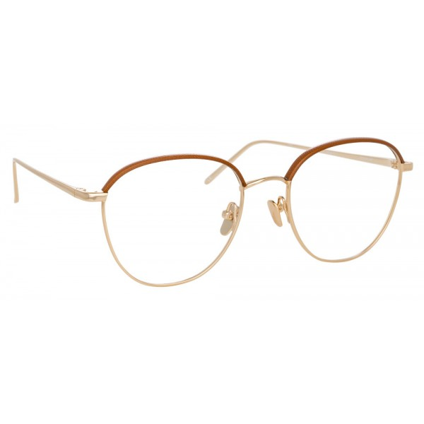 72535b110b Linda Farrow - 819 C11 Square Optical Frames - Optical Lens in Light Gold  Frame - Linda Farrow Eyewear - Avvenice