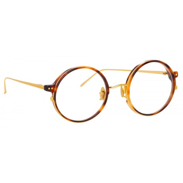 706159fc23 Linda Farrow - 801 C10 Round Optical Frames - Optical Lens in Tortoise Frame  - Linda Farrow Eyewear - Avvenice