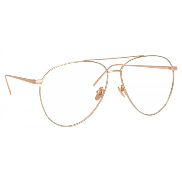 618472645f8 Linda Farrow - 744 C11 Aviator Optical Frames - Rose Gold and White Gold - Linda  Farrow Eyewear - Avvenice