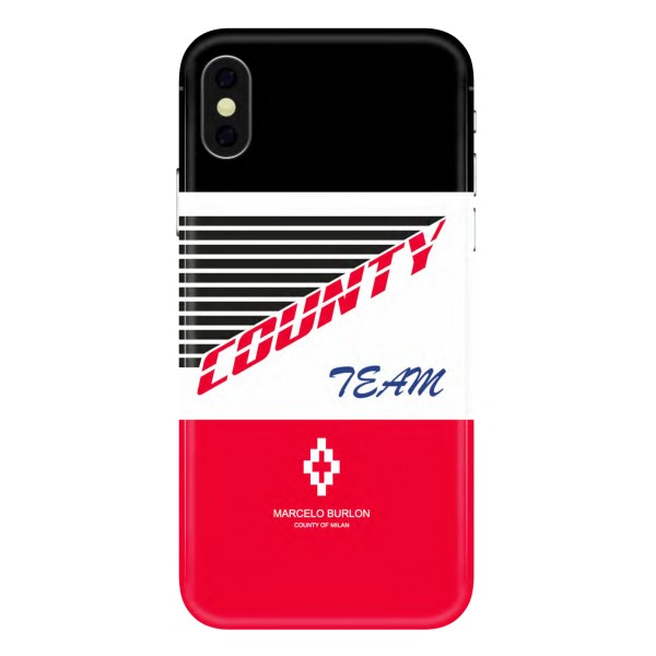 Marcelo Burlon - Cover Team - iPhone X - Apple - County of Milan - Cover Stampata