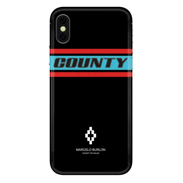 Marcelo Burlon - Cover Colorband - iPhone X - Apple - County of Milan - Cover Stampata