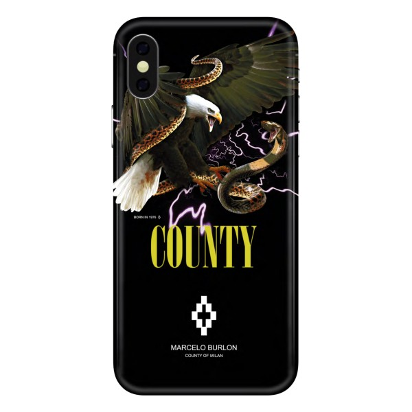 Marcelo Burlon - Cover Eagle - iPhone X - Apple - County of Milan - Cover Stampata
