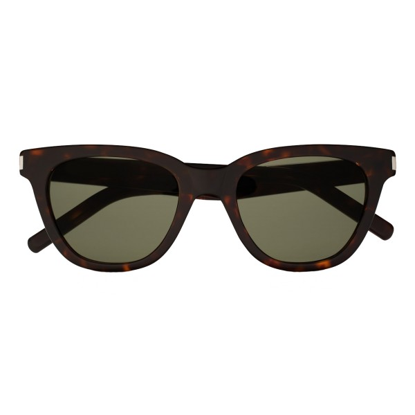 Yves Saint Laurent - Classic SL 51 Small Black and Green Sunglasses - Sunglasses - Saint Laurent Eyewear