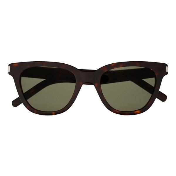 Yves Saint Laurent - Occhiali da Sole Classic SL 51 Small Neri e Verdi - Saint Laurent Eyewear