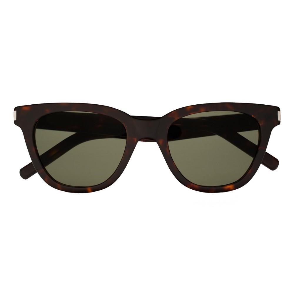 fceed492f65 Yves Saint Laurent - Classic SL 51 Small Black and Green Sunglasses -  Sunglasses - Saint Laurent Eyewear - Avvenice