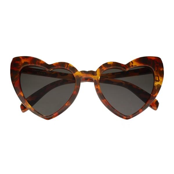 Yves Saint Laurent - Occhiali da Sole New Wave SL 181 Loulou Cuore a Motivo Leopardo - Occhiali da Sole - Saint Laurent Eyewear
