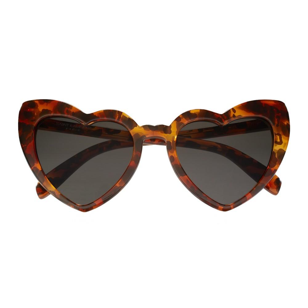 codice promozionale 2ef0c 6532a Yves Saint Laurent - Occhiali da Sole New Wave SL 181 Loulou Cuore a Motivo  Leopardo - Occhiali da Sole - Saint Laurent Eyewear