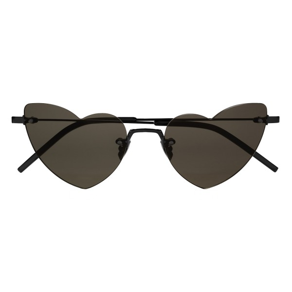 Yves Saint Laurent - New Wave Loulou 254 Black Heart Sunglasses - Sunglasses - Yves Saint Laurent Eyewear