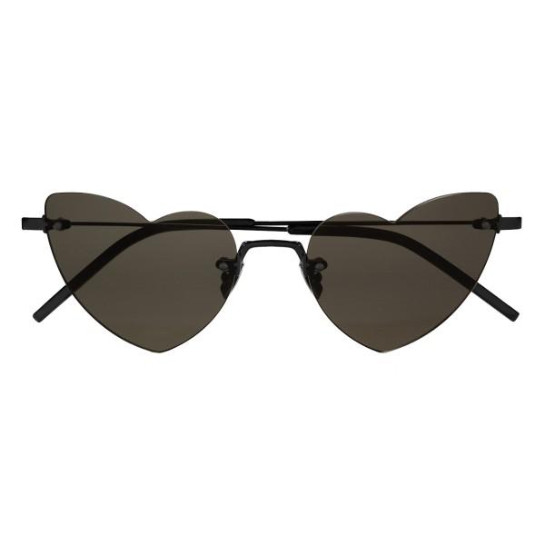 496feb11d7 Yves Saint Laurent - New Wave Loulou 254 Black Heart Sunglasses - Sunglasses  - Yves Saint Laurent Eyewear - Avvenice
