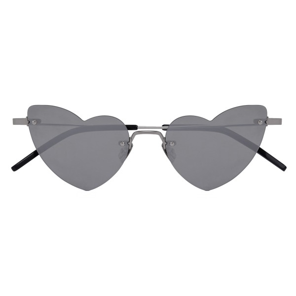 Yves Saint Laurent - New Wave Loulou 254 Silver Heart Sunglasses - Sunglasses - Yves Saint Laurent Eyewear