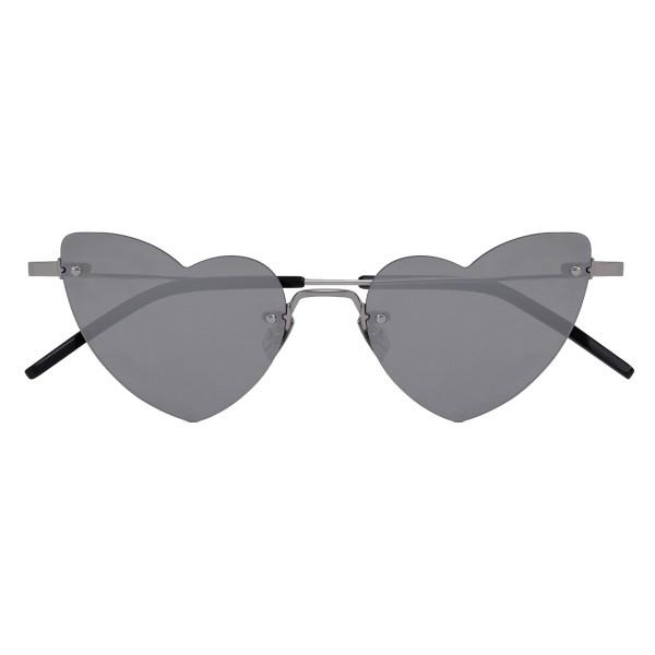 Yves Saint Laurent - Occhiali da Sole New Wave Loulou 254 Cuore Argentati - Occhiali da Sole - Yves Saint Laurent Eyewear