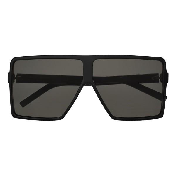 Yves Saint Laurent - Occhiali da Sole New Wave 183 Betty Small Neri in Acetato e Lenti Grigie - Saint Laurent Eyewear