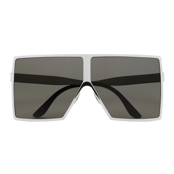 Yves Saint Laurent - New Wave 182 Betty Silver Sunglasses in Shiny Metal with Gray Nylon Lenses - Saint Laurent Eyewear