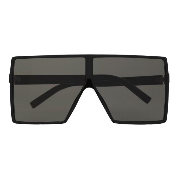 4482eec35ca5 Yves Saint Laurent - New Wave 183 Betty Black Sunglasses in Acetate and  Gray Lenses - Sunglasses - Saint Laurent Eyewear - Avvenice