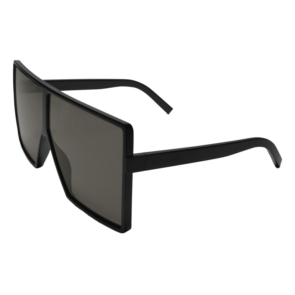 700306b4aa0 ... Yves Saint Laurent - New Wave 183 Betty Black Sunglasses in Acetate and  Gray Lenses -