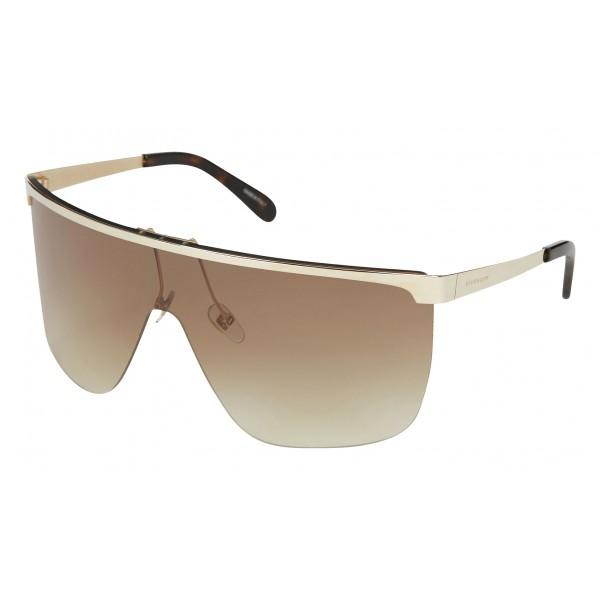 in vendita e8f61 6d2d3 Givenchy - Occhiali da Sole a Maschera con Lenti Flash Marroni - Occhiali  da Sole - Givenchy Eyewear