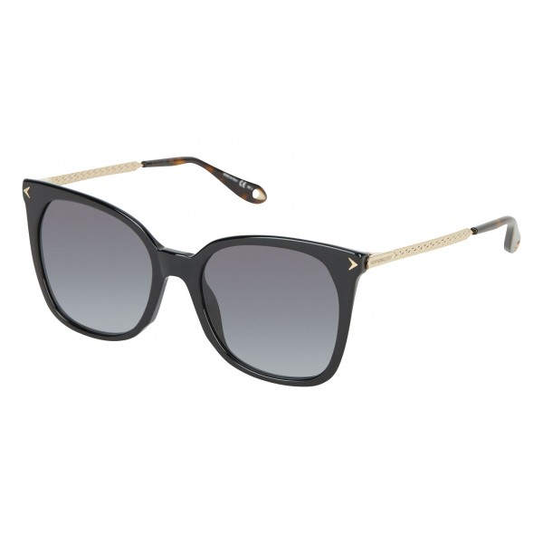 Givenchy - Black Acetate Sunglasses with Gold Finished Metal Bars - Sunglasses - Givenchy Eyewear