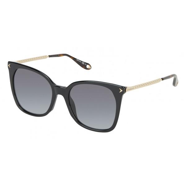Givenchy - Occhiali da Sole in Acetato Nero con Aste di Metallo dalla Finitura Oro - Occhiali da Sole - Givenchy Eyewear