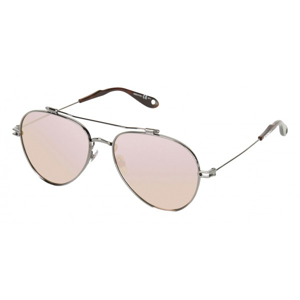 Givenchy - Aviator Sunglasses with Metal Frame with Ruthenium Finish - Sunglasses - Givenchy Eyewear