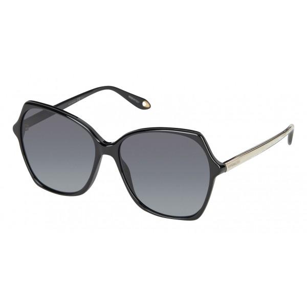 Givenchy - Occhiali da Sole Oversize con Aste dall'Anima di Metallo Oro e Lenti Grigie - Occhiali da Sole - Givenchy Eyewear