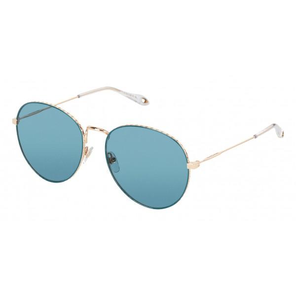 Givenchy - Occhiali da Sole di Metallo con Montatura dalla Finitura Rosa e Lenti Verdi - Occhiali da Sole - Givenchy Eyewear