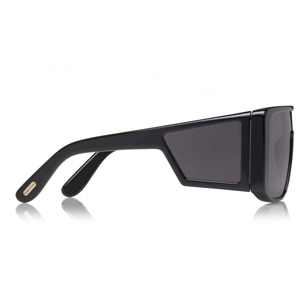 49fb7fcae36 ... Tom Ford - Atticus Sunglasses - Oversize Rectangular Acetate Sunglasses  - FT0710 - Sunglasses - Tom ...