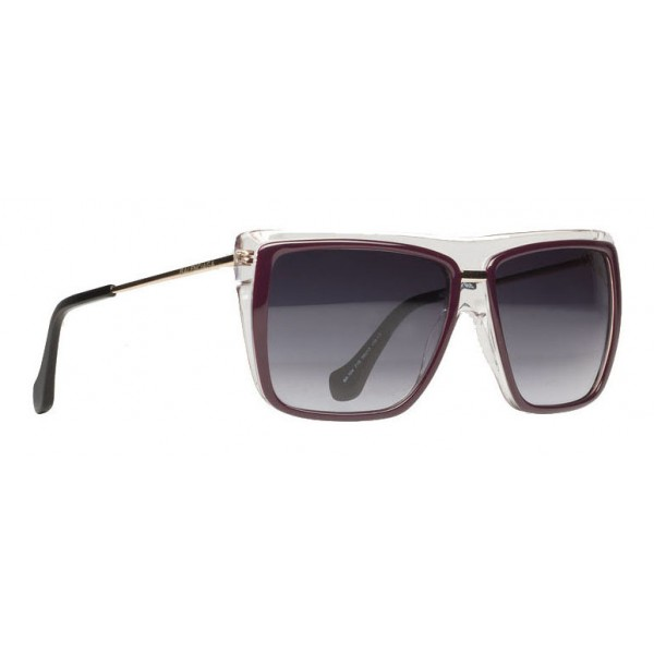 Balenciaga - Occhiali da Sole Quadrati Bordeaux Neri con Lenti Marroni - Occhiali da Sole - Balenciaga Eyewear