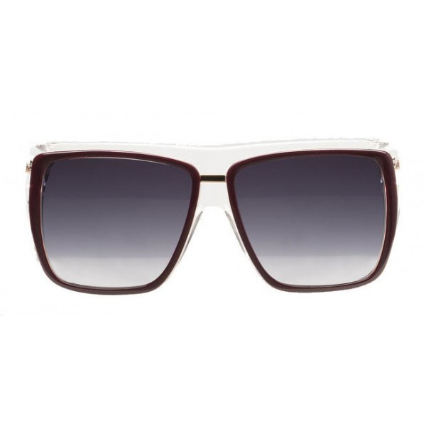 Balenciaga - Square Sunglasses Black Bordeaux with Brown Lenses - Sunglasses - Balenciaga Eyewear