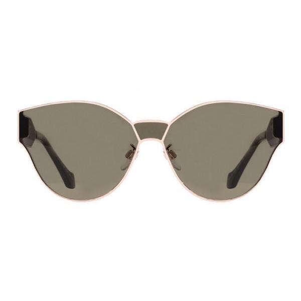 comprare on line c29d8 59eed Balenciaga - Occhiali da Sole Cat Eye Oro Rosa Lucido e Avana Scuro con  Lenti Verdi - Occhiali da Sole - Balenciaga Eyewear - Avvenice