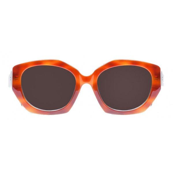 Balenciaga - Occhiali da Sole Geometrici Retrò Havana e White Horn - Occhiali da Sole - Balenciaga Eyewear