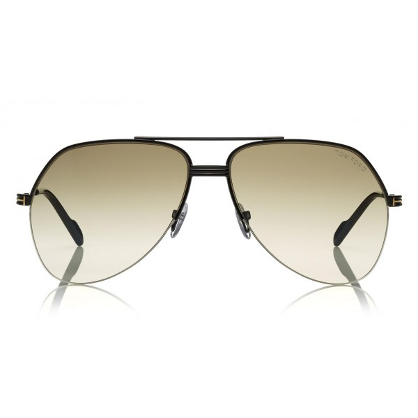 Tom Ford Wilder Sunglasses Pilot Acetate Sunglasses Ft0644 Black Grey Tom Ford Eyewear Avvenice