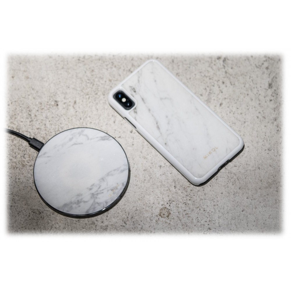 Mikol Marmi - Carrara White Marble iPhone Case - iPhone XS Max ...