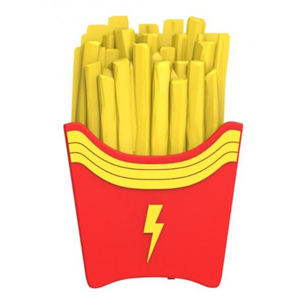 Moji Power - Fries - High Capacity Portable Power Bank Emoji Icon USB Charger - Portable Batteries - 2600 mAh