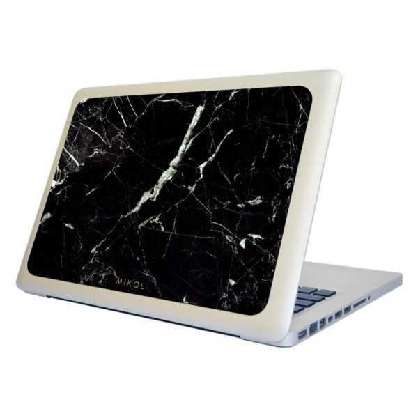 Mikol Marmi - Marquina Black Marble MacBook Skin - 13 - Real Marble Skin - MacBook Skin - Apple - Mikol Marmi Collection