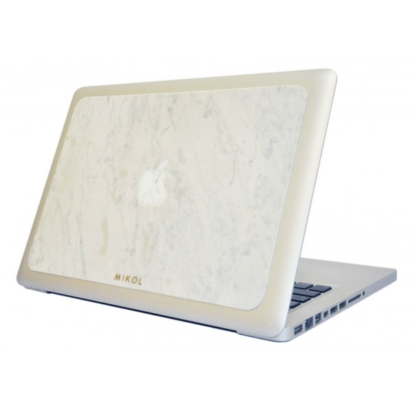 Mikol Marmi - Carrara White Marble MacBook Skin - 13 - Real Marble Skin - MacBook Skin - Apple - Mikol Marmi Collection