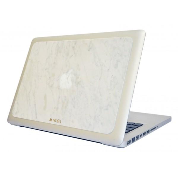 Mikol Marmi - Carrara White Marble MacBook Skin - 15 - Real Marble Skin - MacBook Skin - Apple - Mikol Marmi Collection