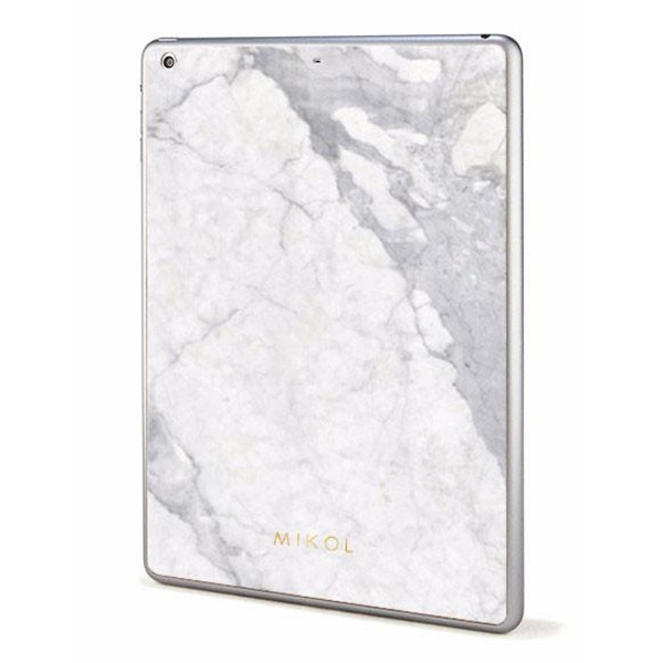 Mikol Marmi - White Carrara Marble iPad Skin - Real Marble Skin - iPad Skin - Apple - Mikol Marmi Collection