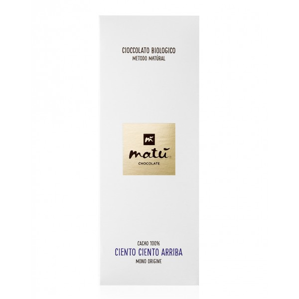Matù Chocolate - Ciento Ciento Aribba - Organic Vegan Extra Dark Chocolate Bar - 100% Cacao - Ecuador Regione Esmeraldas