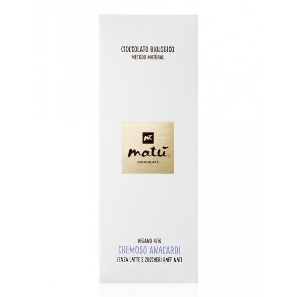Matù Chocolate - Creamy Cashews - Organic Vegan  Creamy Chocolate Bar with Cashews - 42 % Cacao