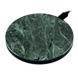 Mikol Marmi - Wireless Charging Pad in Green Emerald Marble with USB Cable - Desktop Charger - iPhone - Apple - Samsung