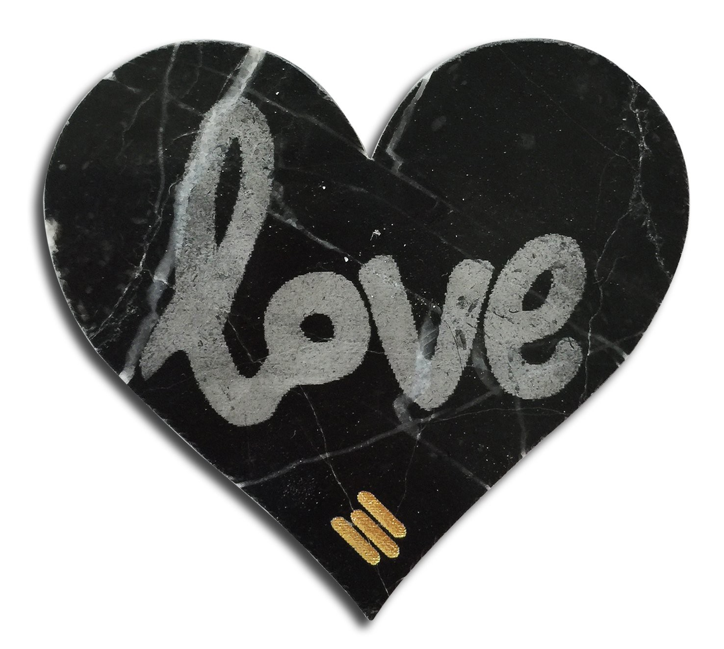 Mikol Marmi Marquina Black Marble True Love Sticker Real Marble Desk Supplies Mikol Marmi Collection Avvenice