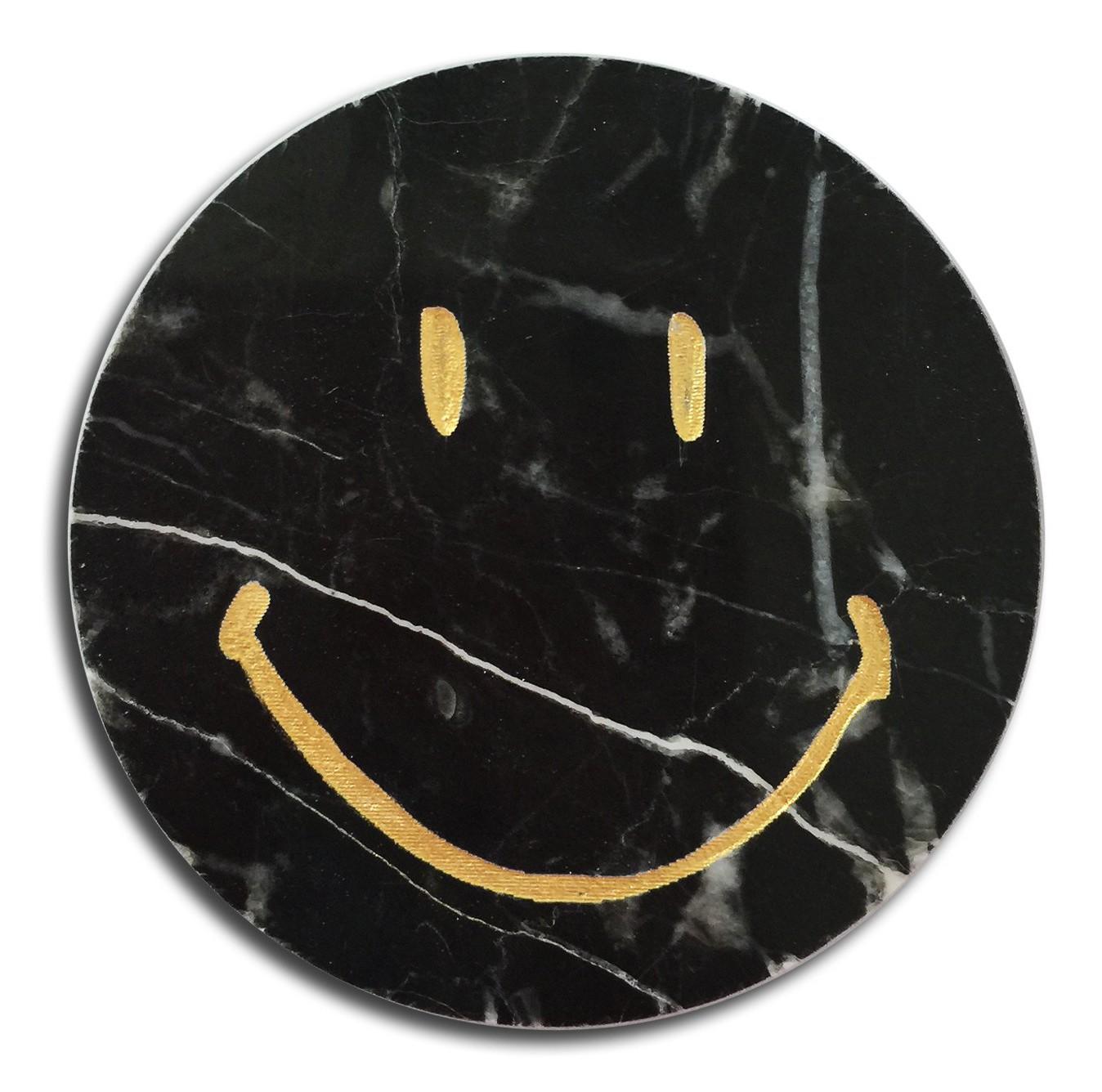 Mikol Marmi Marquina Black Marble Smile Sticker Real Marble Desk Supplies Mikol Marmi Collection Avvenice