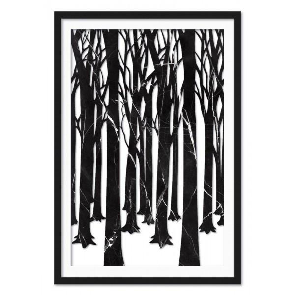 Mikol Marmi - Installazione Artistica in Vero Marmo Foresta Nera Invernale - Vero Marmo - Mikol Marmi Collection