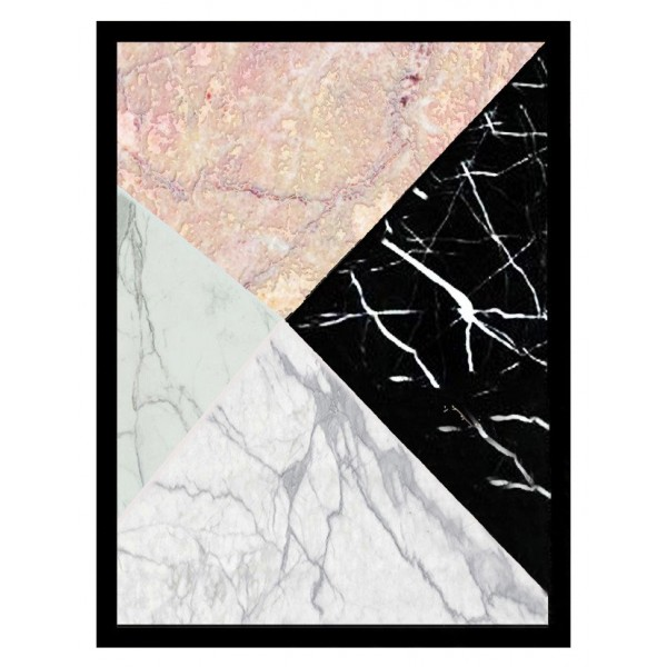 Mikol Marmi - Real Marble Geometric Art Piece - Regular - Real Marble - Mikol Marmi Collection