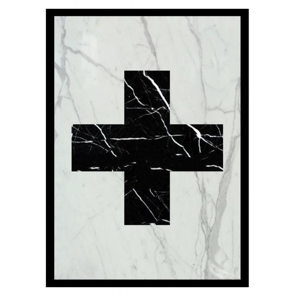 Mikol Marmi - Installazione Artistica a Croce in Vero Marmo - Large - Vero Marmo - Mikol Marmi Collection