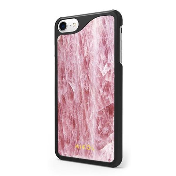 Mikol Marmi - Pink Rose Quartz iPhone Case - iPhone 8 Plus / 7 Plus - Real Marble Cover - Apple - Mikol Marmi Collection