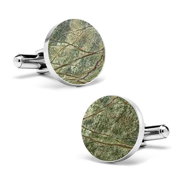 Mikol Marmi - Rainforest Green Marble Cuff Links - Real Marble - Mikol Marmi Collection
